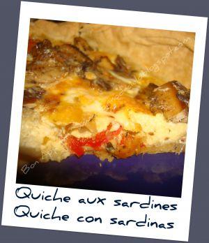 Recette Quiche aux sardines - Quiche con sardinas