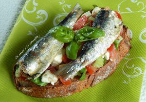 Recette Tartines aux sardines