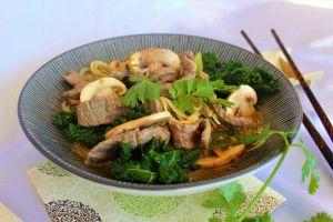 Recette Soupe Miso au Boeuf & Chou Kale