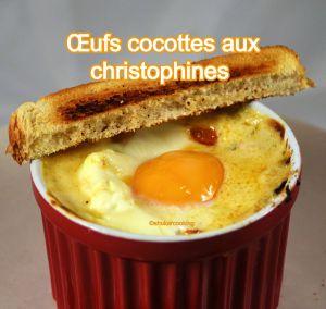 Recette Œufs cocottes aux christophines ou chayottes