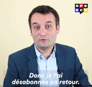 Recette Florian Philippot : «MLP officiel m'a désabonné sur Twitter»