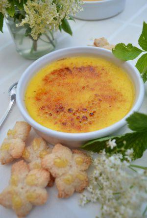 Recette Crème brûlée à la fleur de sureau