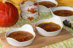 Recette Crèmes brûlées au potimarron et épices douces