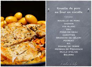Recette Rouelle de porc braisée (en cocotte au four)
