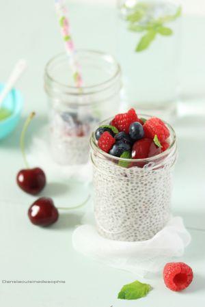 Recette Chia pudding aux fruits rouges
