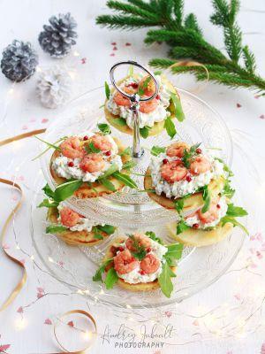 Recette Blinis aux crevettes, citron et gingembre