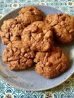 Recette Cookies healthy chocolat-cacahuète (sans beurre)