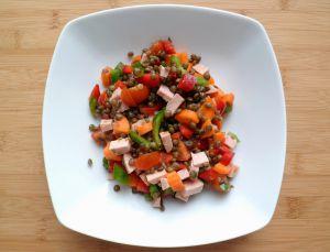 Recette Salade de lentilles de couleurs
