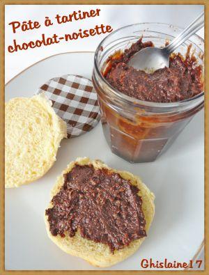 Recette Pâte à tartiner chocolat-noisette