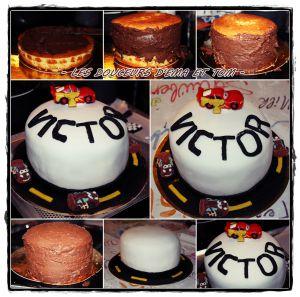 Recette Gâteau en pâte à sucre Cars