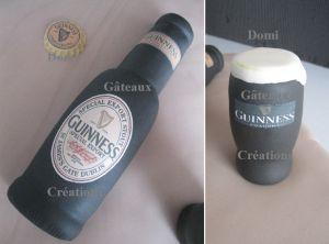 """Recette Gâteau """"Guinness"""" en Pâte à Sucre"""