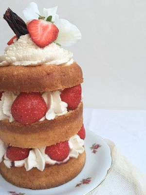 Recette Naked Cake Fraises-Hibiscus