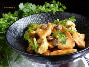 Recette Piccata de poulet aux câpres & artichauts
