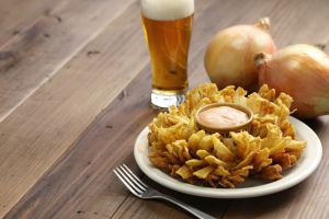 Recette Fleurs d'oignons frits (Oignons fleuris)