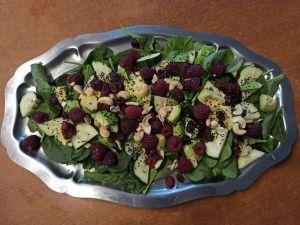 Recette Salade composée aux framboises