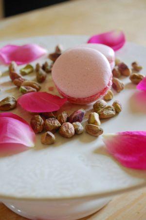Recette Macarons rose-pistache Quand la rose s'associe