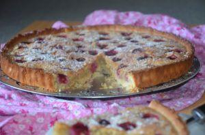 Recette Tarte aux framboises crème amande et noisettes