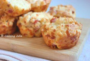 Recette Muffins ricotta, lardons et mozzarella
