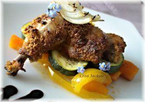 Recette Cuisses de poulet croustillantes