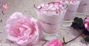 Recette Verrines roses, jambon et radis