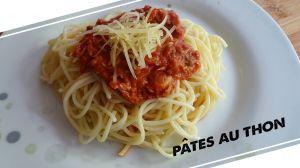 Recette Pâtes sauce tomate au thon