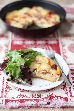 Recette Frittata du lendemain de raclette