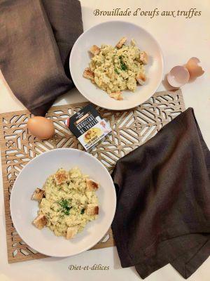 Recette Brouillade d'oeufs aux truffes