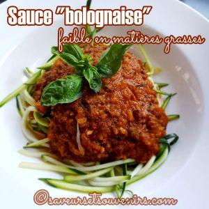 Recette Sauce Bolognaise faible en matières grasses