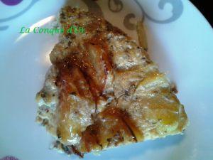 Recette Frittata de pommes de terre et champignons au four