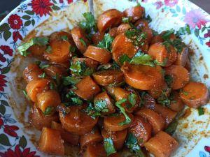 Recette Salade de carottes cuites à la coriandre