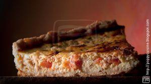 Recette Quiche au saumon, tomates et ciboulette