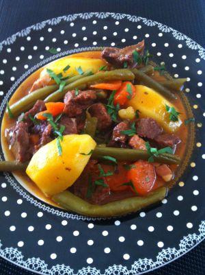 Recette Mijoté de joue de boeuf et légumes