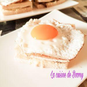 Recette Croque-madame champignons mozzarella