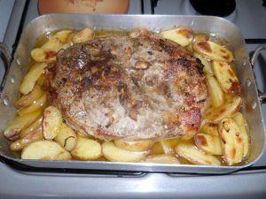 Recette Rouelle de porc et pommes de terre