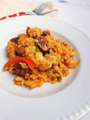 Recette Blé au chorizo et poivron