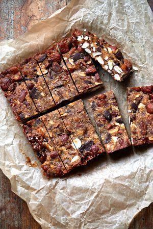 Recette Barres aux amandes et au chocolat