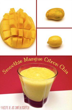 Recette Smoothie Mangue, Citron et Graines de Chia