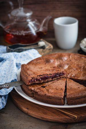 Recette Gâteau basque au chocolat et cerises