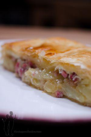 Recette Feuilleté au camembert et aux lardons