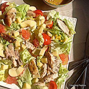 Recette Salade de poulet au pamplemousse et à l'avocat:la cuisine comme un refuge