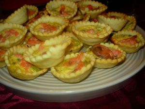 Recette Mini quiches au saumon et camembert