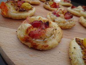 Recette Tartelettes chèvre-lardons #aperitif