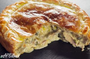 Recette Tourte au poulet et aux champignons. Cuisine anglaise