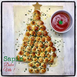Recette Brunch  de  Noël  # 3  !   Un  Sapin  Dolce  Vità  Pâte  à  Pizza ,  Mozzarella ,  Basilic  &  une  Virée  Italienne  à  Imperia