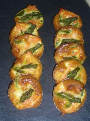 Recette Frittatas aux asperges et saumon fumé