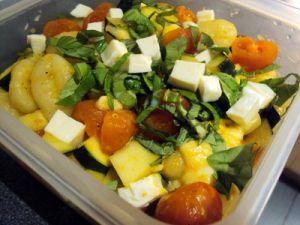 Recette Gnocchi avec courgettes et tomates