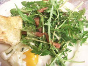 Recette Salade de pissenlits aux lardons