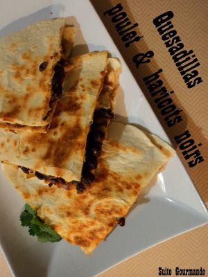 Recette Quesadillas poulet-haricots noirs