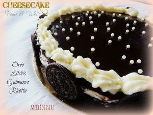 Recette Cheesecake black & white (oréo, litchi, guimauve, ricotta)