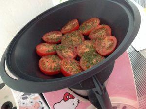 Recette Filets de cabillaud tomates à la provençale et son riz 3 couleurs